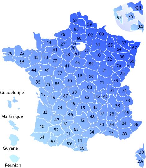 Carte de France des auto-écoles