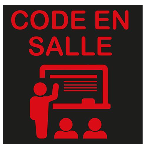 <strong> Code en salle by CER<br></strong>à partir de