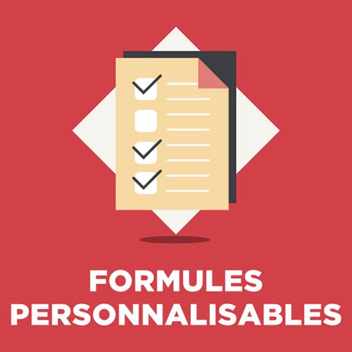 Formules personnalisables